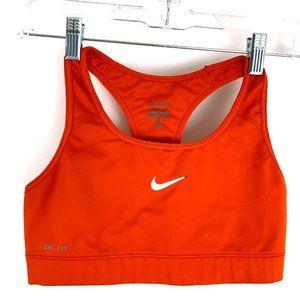 Nike Pro Dri Fit Racerback Orange Sports Bra M